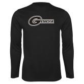 Performance Black Longsleeve Shirt-Geneva