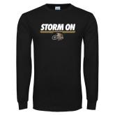 Black Long Sleeve T Shirt-Storm On