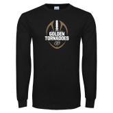 Black Long Sleeve T Shirt-Golden Tornadoes Football