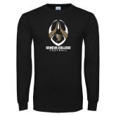 Black Long Sleeve T Shirt-Geneva College Football Tall