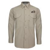 Khaki Long Sleeve Performance Fishing Shirt-Geneva Tornado