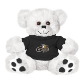 Plush Big Paw 8 1/2 inch White Bear w/Black Shirt-Geneva Tornado