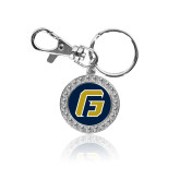 Crystal Studded Round Key Chain-G
