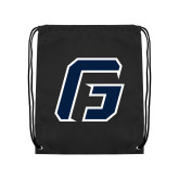 Black Drawstring Backpack-G