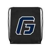 Black Drawstring Backpack-G