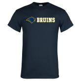 Navy T Shirt-Bear Head Bruins Flat