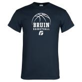 Navy T Shirt-Basketball Design