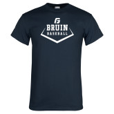 Navy T Shirt-Baseball Design