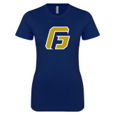 Next Level Ladies SoftStyle Junior Fitted Navy Tee-G