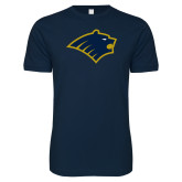 Next Level SoftStyle Navy T Shirt-Bear Head