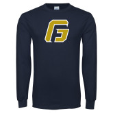 Navy Long Sleeve T Shirt-G