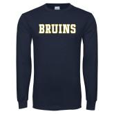Navy Long Sleeve T Shirt-Bruins