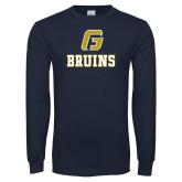 Navy Long Sleeve T Shirt-G Bruins Stacked