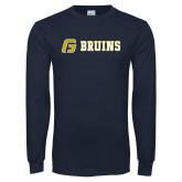 Navy Long Sleeve T Shirt-G Bruins Flat