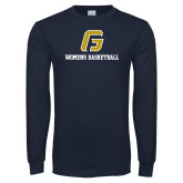 Navy Long Sleeve T Shirt-Basketball-Women's
