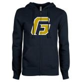 ENZA Ladies Navy Fleece Full Zip Hoodie-G