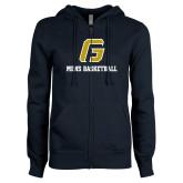 ENZA Ladies Navy Fleece Full Zip Hoodie-Basketball-Men's
