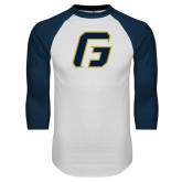 White/Navy Raglan Baseball T-Shirt-G