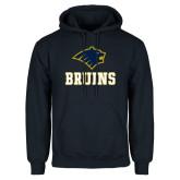 Navy Fleece Hoodie-Mascot Bruins Stacked