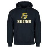 Navy Fleece Hoodie-G Bruins Stacked