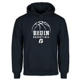 Navy Fleece Hoodie-Basketball Design