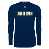 Under Armour Navy Long Sleeve Tech Tee-Bruins