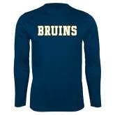 Performance Navy Longsleeve Shirt-Bruins