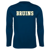Syntrel Performance Navy Longsleeve Shirt-Bruins