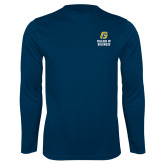 Performance Navy Longsleeve Shirt-College of Business