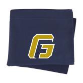Navy Sweatshirt Blanket-G