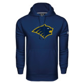 Under Armour Navy Performance Sweats Team Hoodie-Bear Head