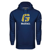 Under Armour Navy Performance Sweats Team Hoodie-Baseball