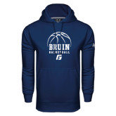 Under Armour Navy Performance Sweats Team Hoodie-Basketball Design