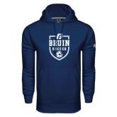 Under Armour Navy Performance Sweats Team Hoodie-Soccer Design