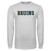 White Long Sleeve T Shirt-Bruins