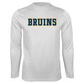 Performance White Longsleeve Shirt-Bruins