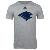 Adidas Sport Grey Logo T Shirt-Bear Head