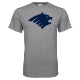 Grey T Shirt-Bear Head