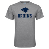 Grey T Shirt-Mascot Bruins Stacked