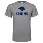 Grey T Shirt-Mascot Bruins Stacked