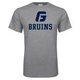 Grey T Shirt-G Bruins Stacked