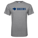 Grey T Shirt-Bear Head Bruins Flat