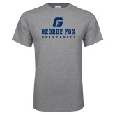 Grey T Shirt-George Fox University w/ G
