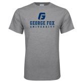 Grey T Shirt-George Fox University w/ G