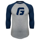 Grey/Navy Raglan Baseball T Shirt-G