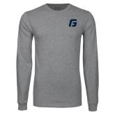 Grey Long Sleeve T Shirt-G