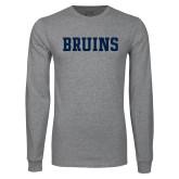 Grey Long Sleeve T Shirt-Bruins
