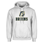 White Fleece Hoodie-G Bruins Stacked