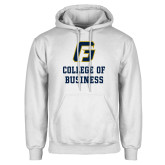 White Fleece Hoodie-College of Business