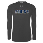 Under Armour Carbon Heather Long Sleeve Tech Tee-Bruins